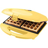 Bestron ASW401V wafelijzer, metaal/kunststof, geel