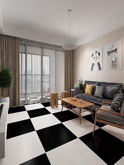 FloorPops FP2480 Comet Peel /& Stick Tiles Floor Decal Twо Pаck Black
