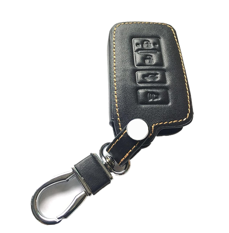 KAWIHEN Leather Smart Remote Key Fob Case Keyless Entry Case Holder Cover For 2014 2015 2016 2017 Toyota Avalon Camry Corolla RAV4 Highlander HYQ14FBA 89904-06140 1551A-14FBA
