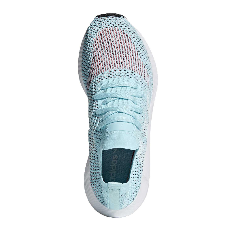 Adidas  mujer 's Swift Run primeknit Aqua / blanco cq2034