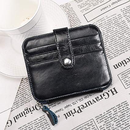7cf360907b4688 Tatkldisu Portamonete in Pelle Unisex Mini Porta Carte di Credito Porta  patente di Guida RFID Blocking