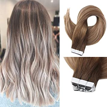 Amazon Com Full Shine 16 Inch Straight Tapes In Ombre Hair