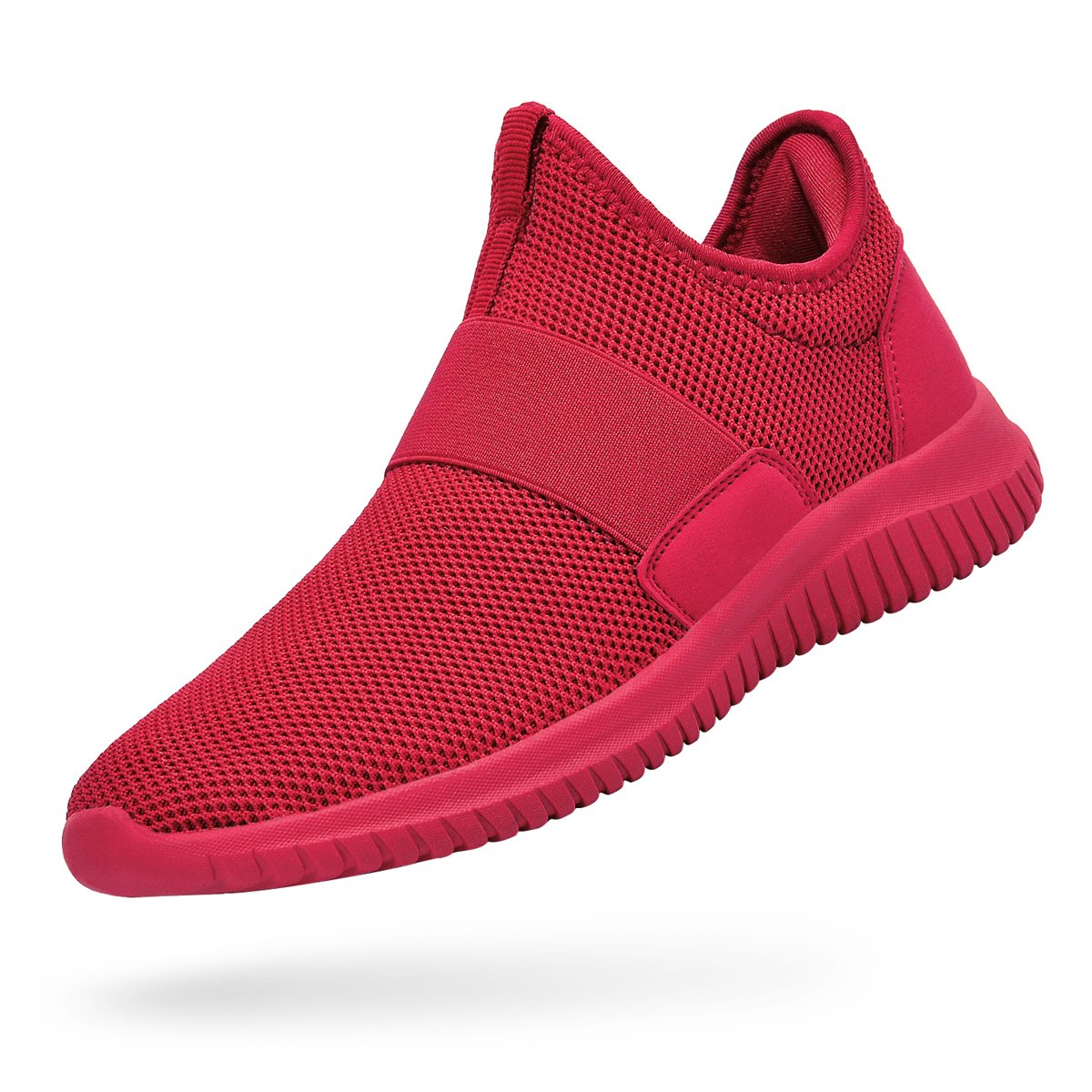 Troadlop Womens Sneakers Lightweight Breathable Mesh Slip On Casual Tennis Shoes Athletic Walking Running Sneakers Red Size 7.5 B(M) US