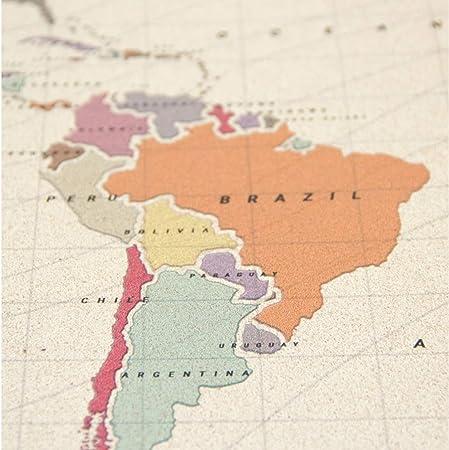 Miss Wood Tropical L, Mapa del Mundo en Corcho, 45x60cm, L (45 x 60 cm): Amazon.es: Hogar