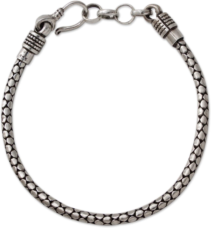 "NOVICA Men's .925 Sterling Silver Bracelet, 8.25"", Serpent Tale'"