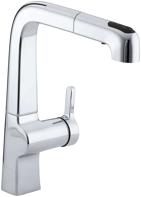 KOHLER K-6331-CP Evoke Single Control Pullout Kitchen Faucet ...