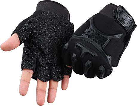 Pair of Anti-Slip Fingerless Outdoor Military Sports Camping Cycling Gloves
