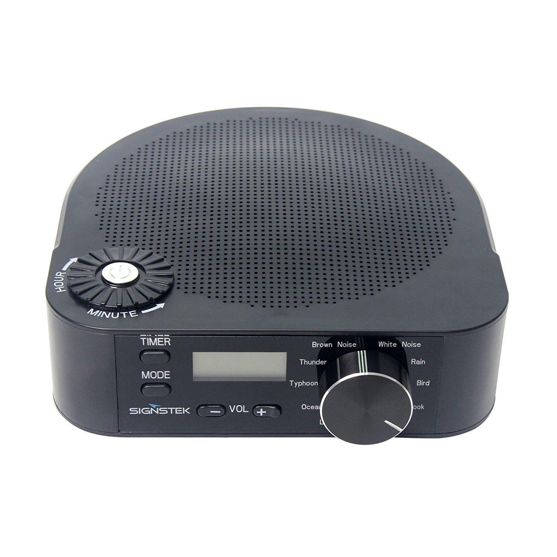 Signstek Sistema de sonido de sueño con ruido blanco y naturales sonidos relajantes para ayudarle a dormir máquina de ruido fácil y blanco