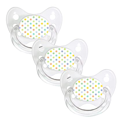 denti Star® Chupete Juego de 3 nuckel silicona en tamaño 3 ...