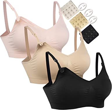 Hofish 3pack Full Bust Seamless Nursing Maternity Bras Bralette S Xxl With Extra Bra Extenders Clips At Amazon Women S Clothing Store