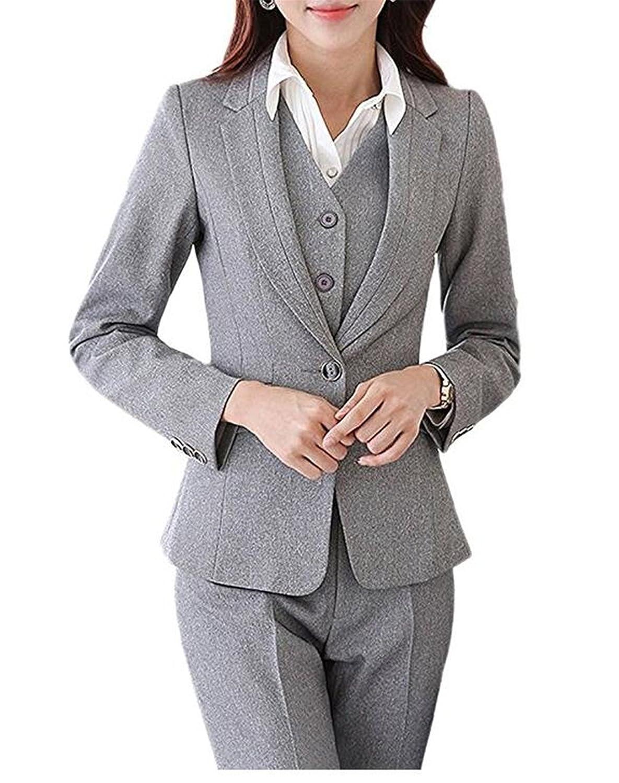 BCSY Women's Two Piece Office Lady Blazer Business Suit Set