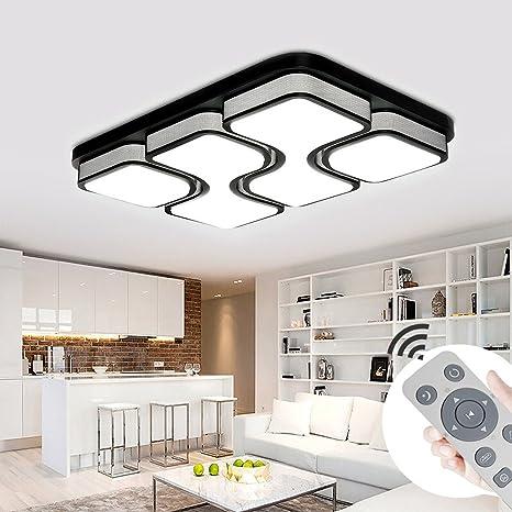 MIWOOHO 100W LED Deckenleuchte Dimmbar Deckenlampe Modern Design  Schlafzimmer Küche Flur Wohnzimmer Lampe Wandleuchte Energie Sparen Licht  ...