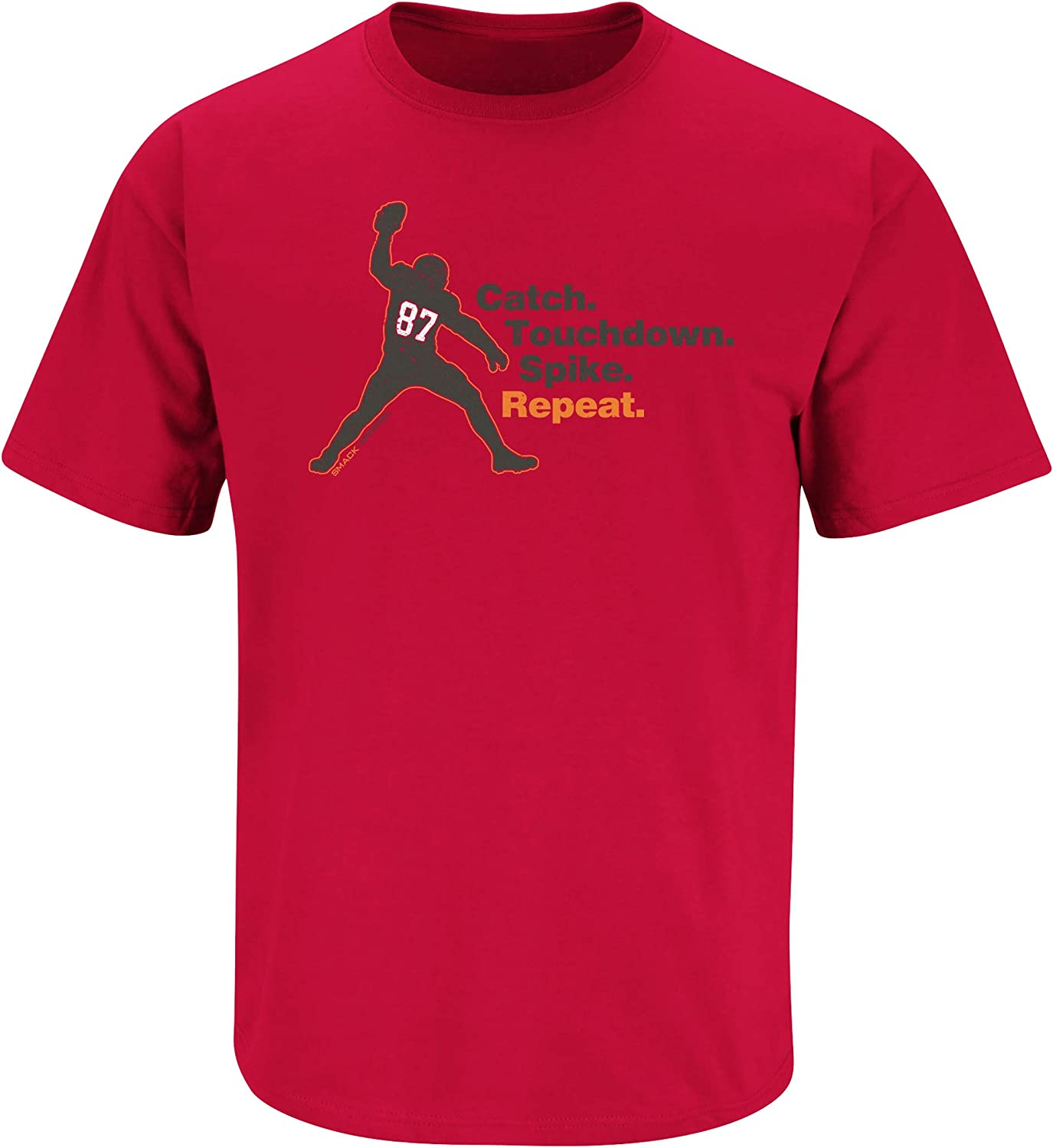 Catch Tampa Bay Football Fans Red T-Shirt Sm-5X Repeat Touchdown Spike