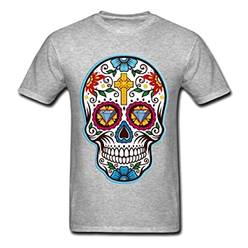Para hombre Big camiseta con diseño de calavera mexicana para el día de los muertos, Dia de los t 074, Gris: Amazon.es: Deportes y aire libre