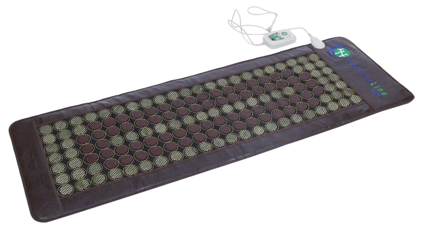 HealthyLine Far Infrared Heating Mat 72''x24'' Relieves Sore Muscles, Joints, Arthritis|Natural Jade & Tourmaline with Negative Ions|InfraMat Pro Most Flexible Model-Easy to roll-up(Light & Firm)