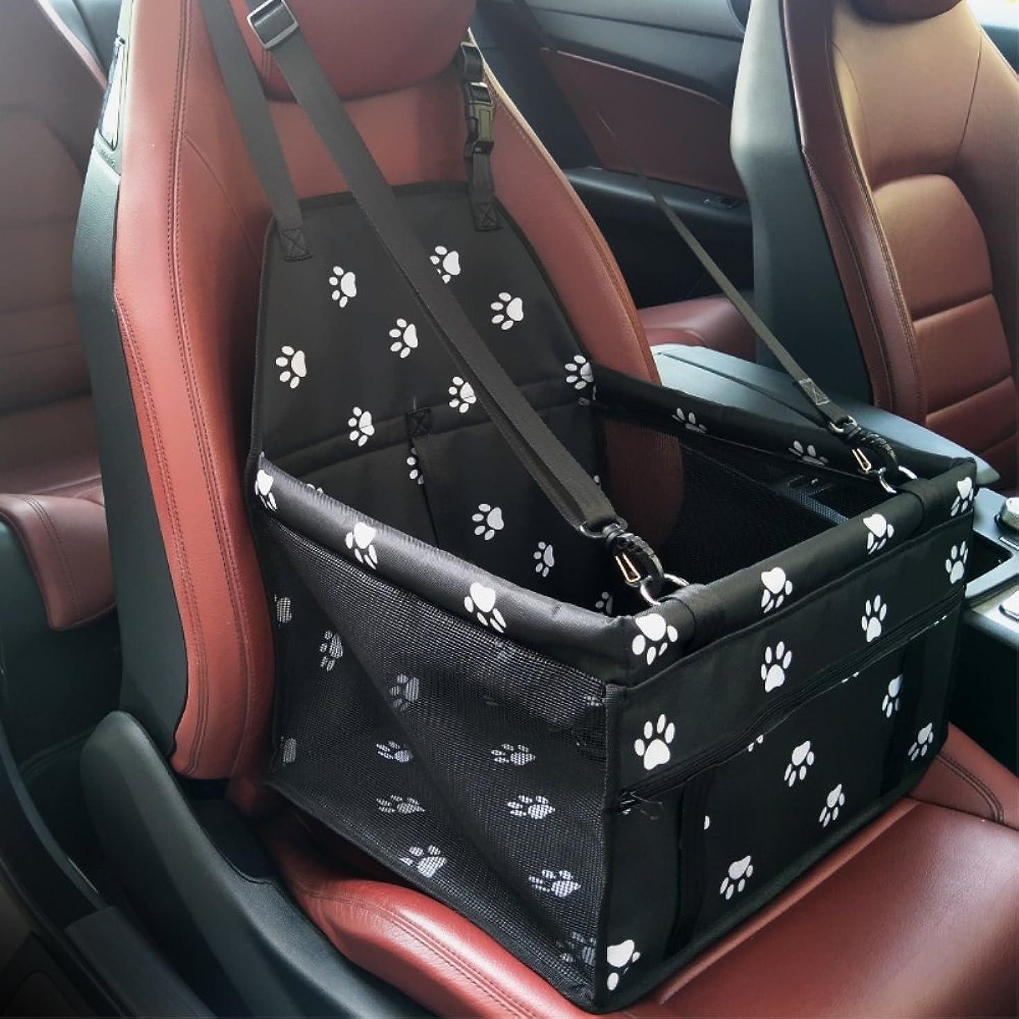 忍耐ステレオタイプ日帰り旅行に犬シートベルト ペットシートベルト HOMEOW 安全ベルト 犬シートベルト 簡単 車専用リード ドライブ 飛びつく防止 長さ90cmまで調整可 反射テップ付き ブラック 全車種対応