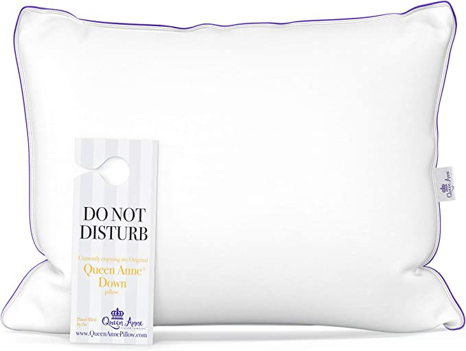 The Original Queen Anne Pillow Famous 100 European White Goose And Duck Down Blend Cruelty Free Luxury Hotel Pillows Made In Usa Standard Soft Home Kitchen