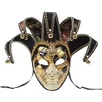 BLEVET Vintage Venetian Harlequin Eye mask Party Halloween Costume Mardi Gras Mask BK005