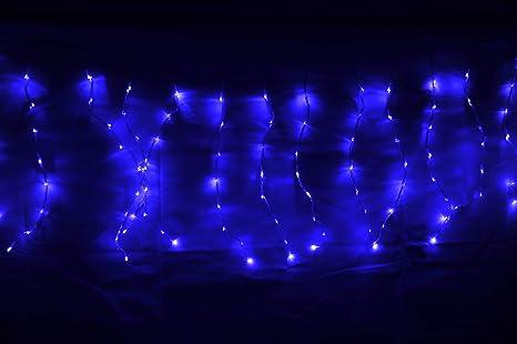 Tenda a pioggia luci di natale a led blu cm per esterno