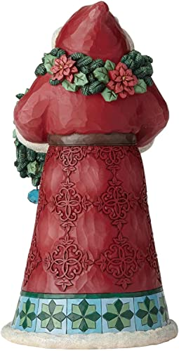 Enesco Jim Shore Heartwood Creek Winter Wonderland Santa with Garland Figurine, 10.5 , Multicolor