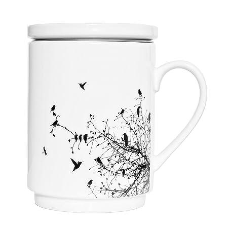 Infuseramp; Stainless We ClPrimavera Nordic Mug 25 Porcelain Steel Tea With Design Lid Love Style Home jq35L4RA