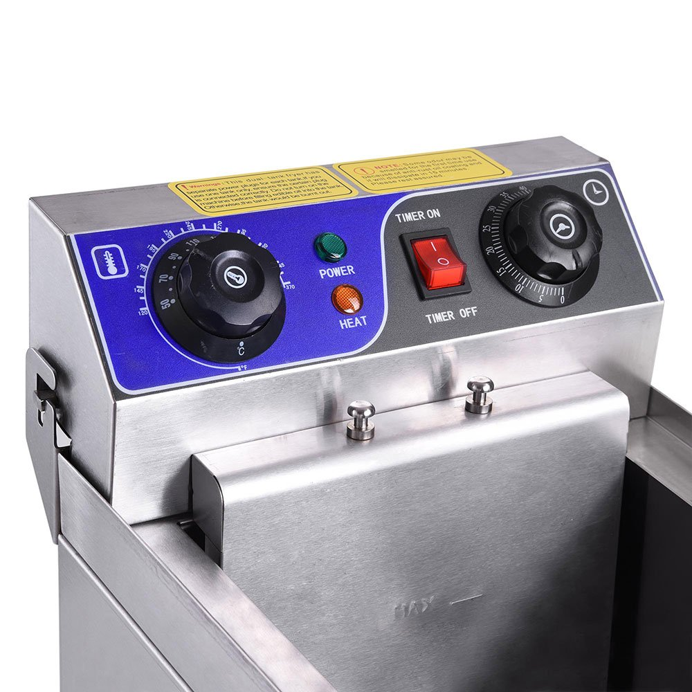 Yescom Commercial Professional Electric 11.7L Deep Fryer Timer and Drain Stainless Steel French Fry Restaurant Kitchen by Yescom (Image #6)