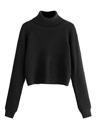 a483ede7b0e6 Milumia Turtleneck Winter Sweaters Long Sleeves Fitted Crop Sweater ...