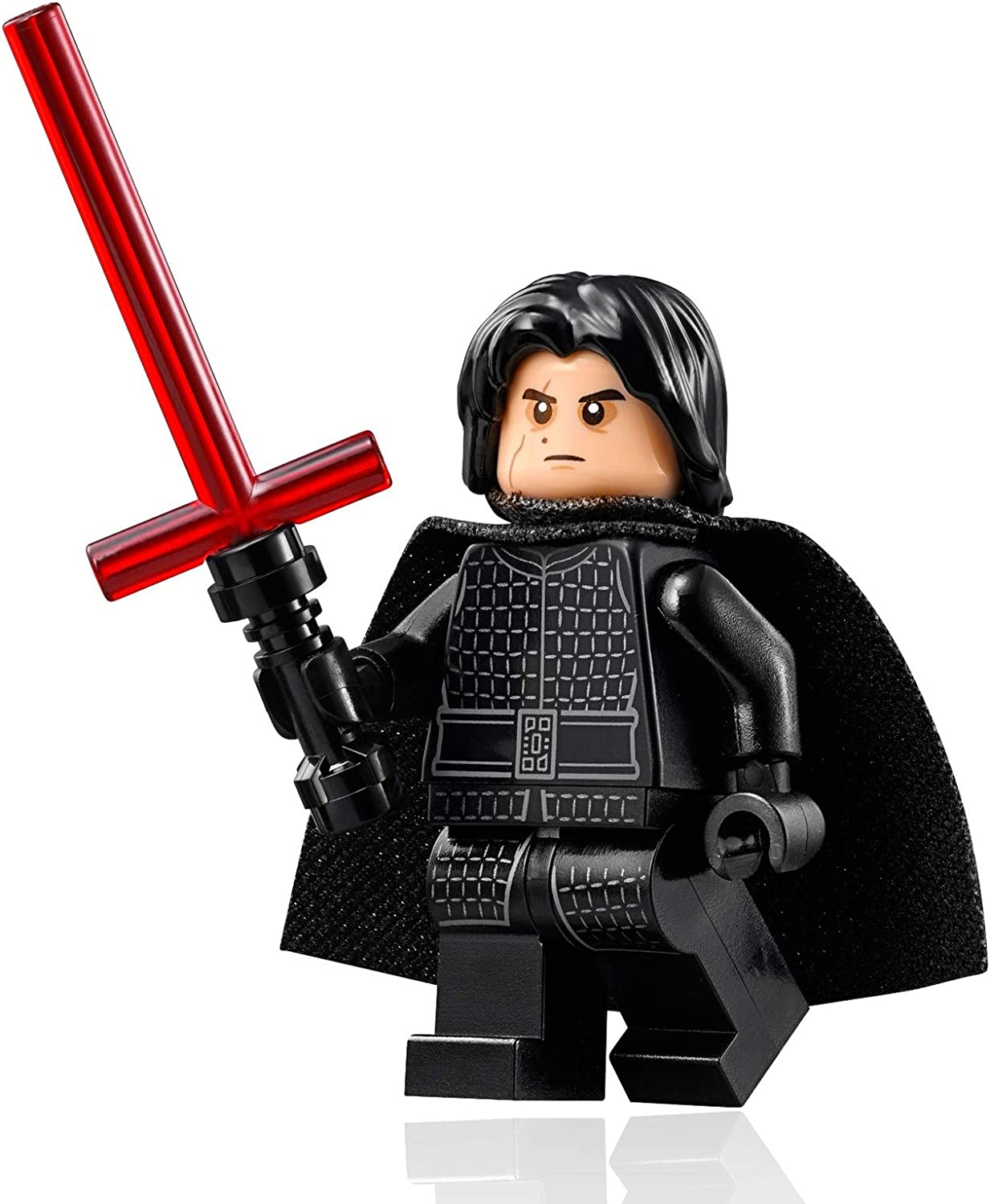 LEGO Star Wars The Last Jedi Minifigure - Kylo Ren (with Face Scar and Lightsaber) 75179