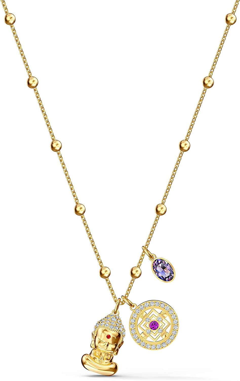 Abiertamente filósofo Encommium  Amazon.com: Swarovski Symbolic Collection Women's Pendant Necklace, with  Three Multi-Colored Crystal Charms and Gold Tone Plated Chain, an Amazon  Exclusive: Jewelry