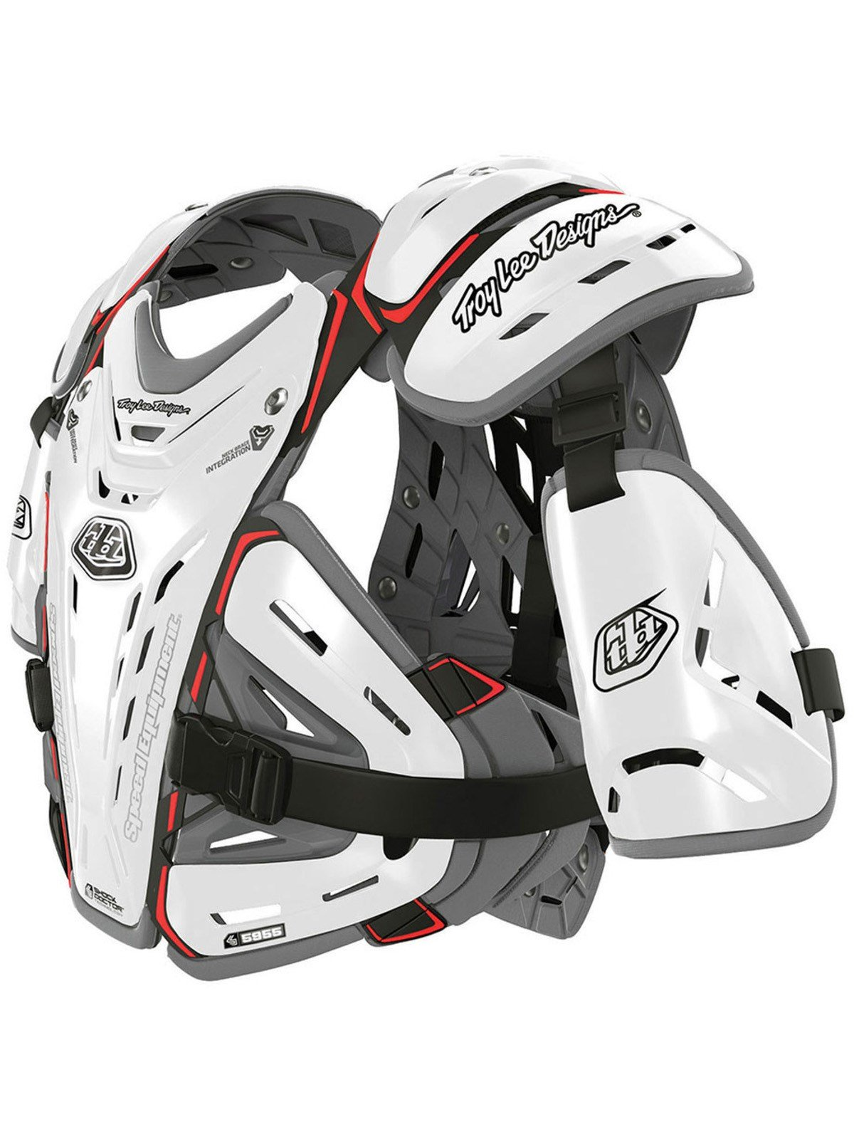 Troy Lee Designs 5955 Chest Body Guard-White-L by Troy Lee Designs (Image #1)