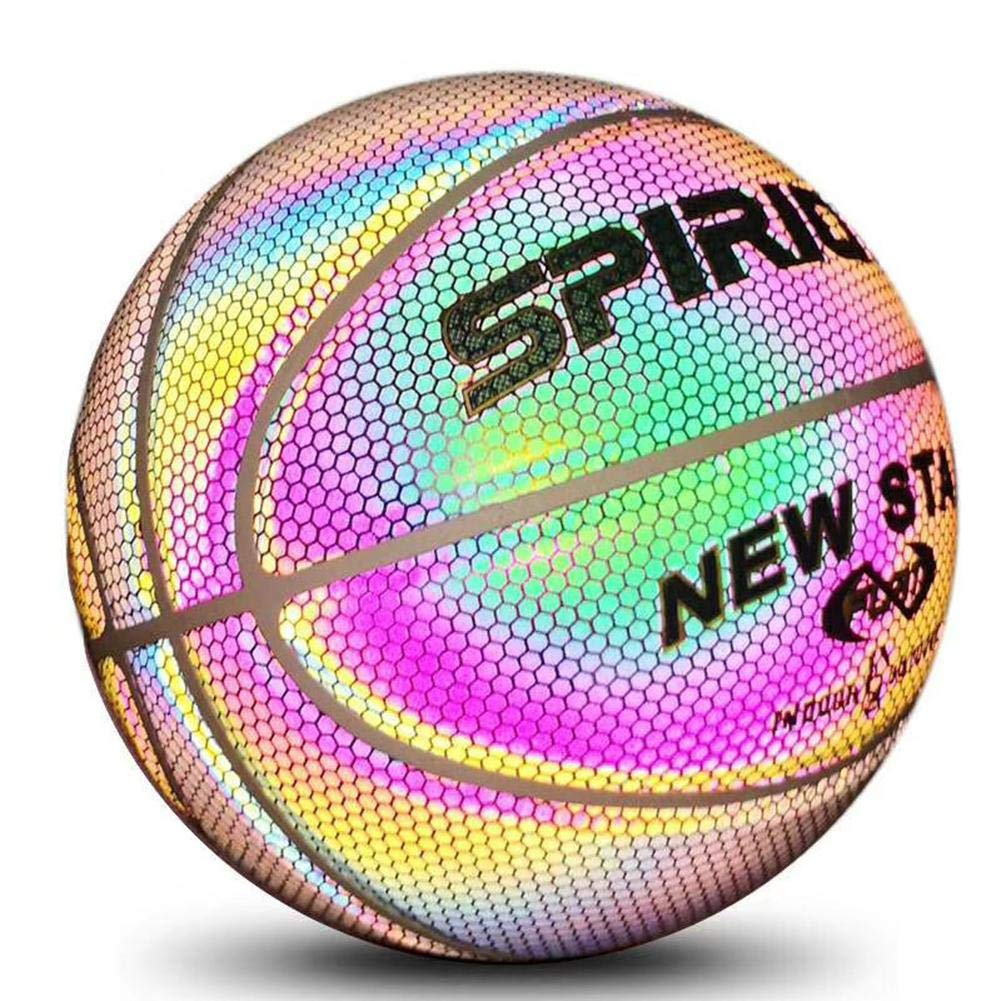 Talla 7 Ni/ños Y Ni/ños Bal/ón De Baloncesto Luminoso LED con Luz En Bal/ón De Baloncesto Interior para Regalo para El Juguete circulor Balon Baloncesto Interior