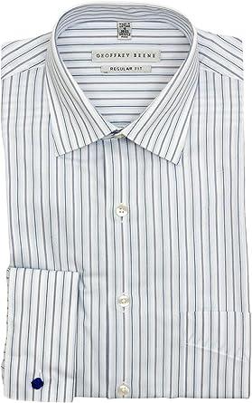 Geoffrey Beene Solid Dress Shirt Blue