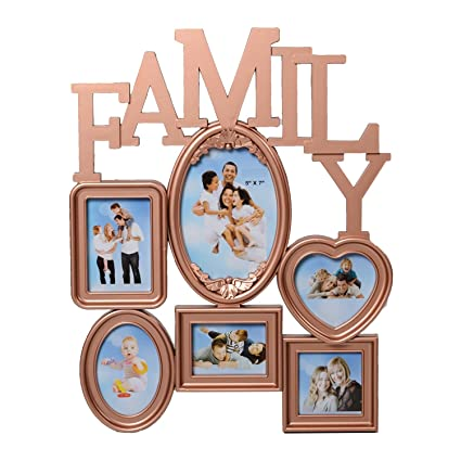Buy Ecraftindia Heart Shape Family Collage Acrylic And Glass Photo