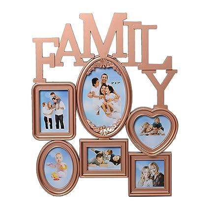 Buy Ecraftindia Heart Shape Family Collage Acrylic And Glass Photo