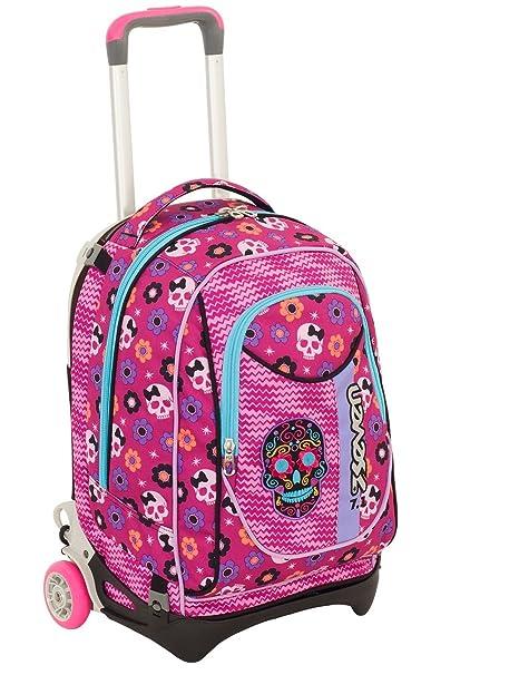 07bd7254d8 TROLLEY SEVEN NEW JACK - MEXI GIRL - Rosa - SGANCIABILE e LAVABILE - Scuola  e