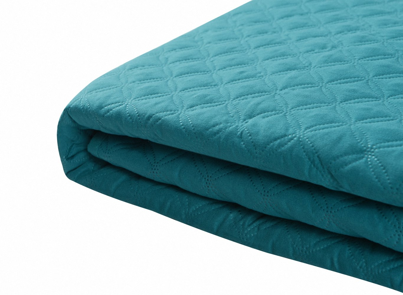 Bourina Reversible Bed Quilt Bedspread and Coverlet x 90 Microfiber Thin Comforter-Full//Queen One Size Blue