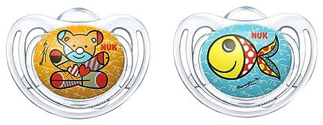 NUK Romero Britto Freestyle de silicona Chupete con anillo ...