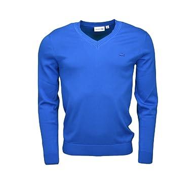 ef389d0237 Lacoste Pull col V Bleu Saphir pour Homme: Amazon.fr: Vêtements et ...