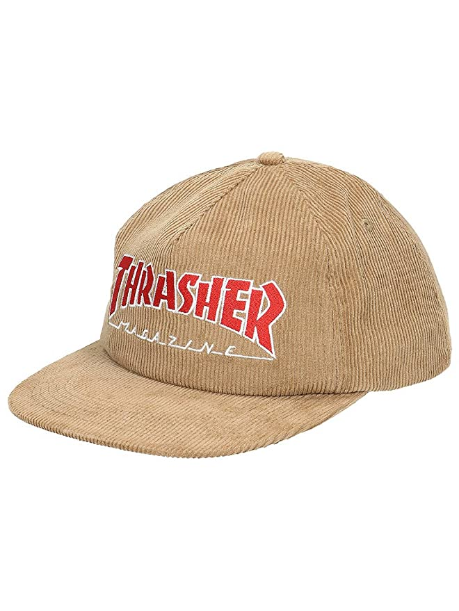 a058f659b6f Thrasher Magazine Logo Corduroy Snapback Hat Black  Amazon.co.uk  Clothing