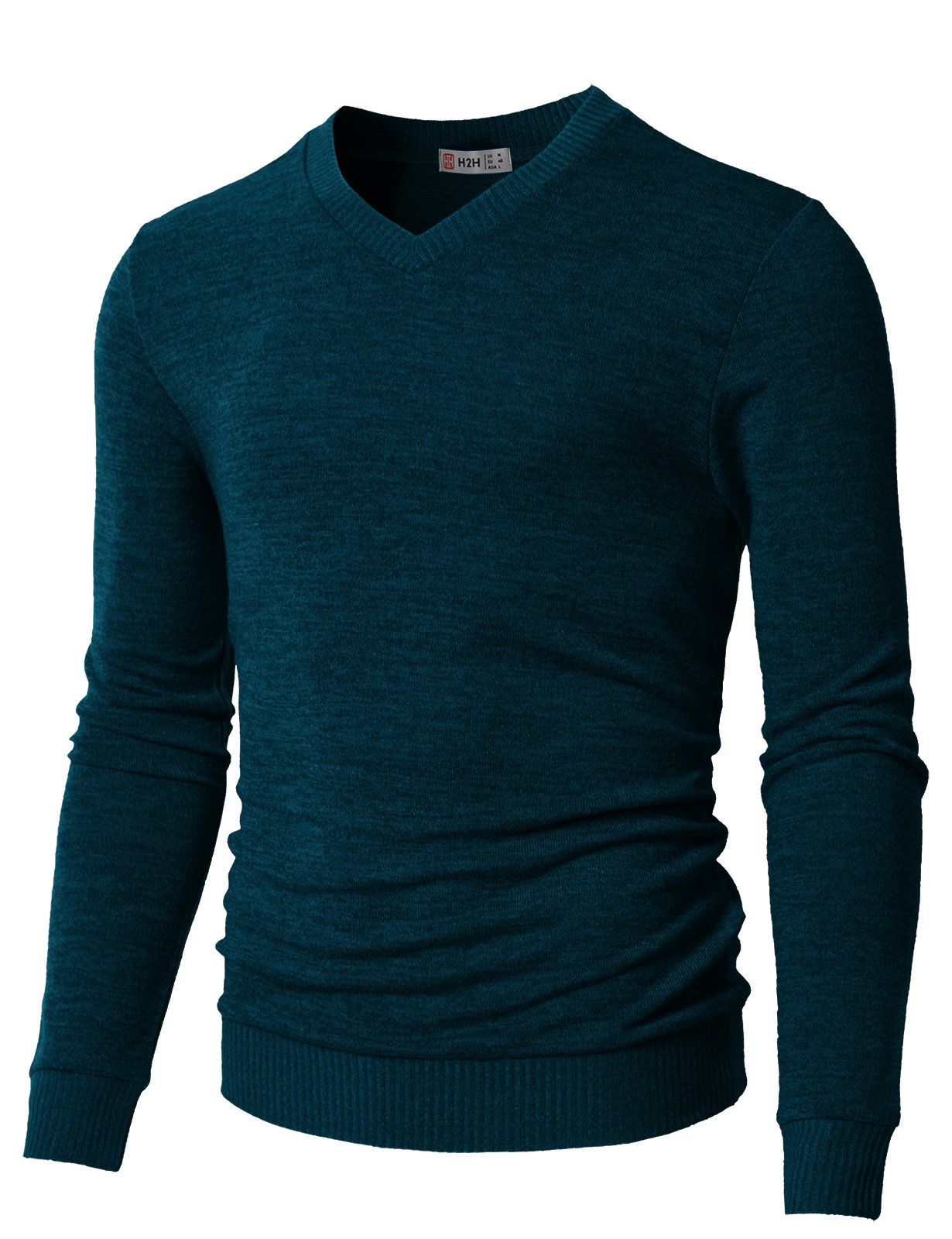 H2H Men's Quarter Zip Marled Sweaters Green US XL/Asia 2XL (CMOSWL018) by H2H