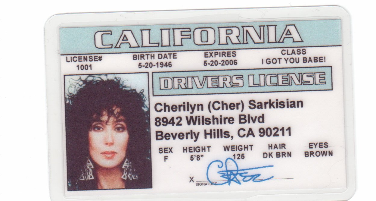 Fake Mermaids And Identification Amazon License Novelty Cher Fans Silkwood d amp; For com I Drivers Games Toys