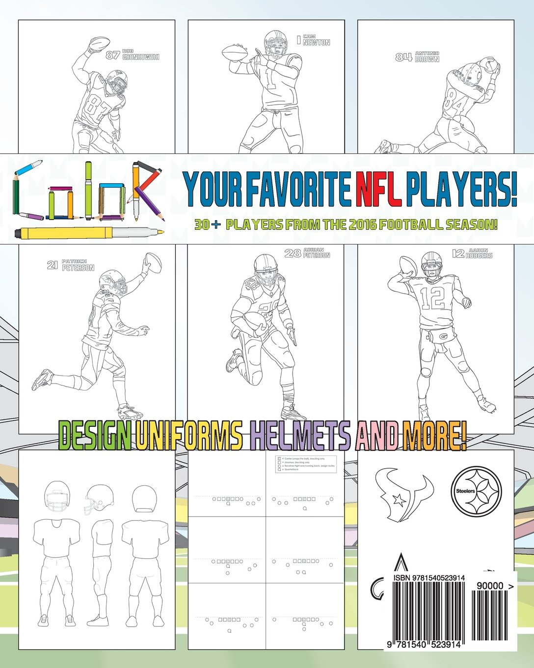 5ba474c819c NFL All Stars 2017  Coloring and Activity Book for Adults and Kids  feat.  Ezekiel Elliott