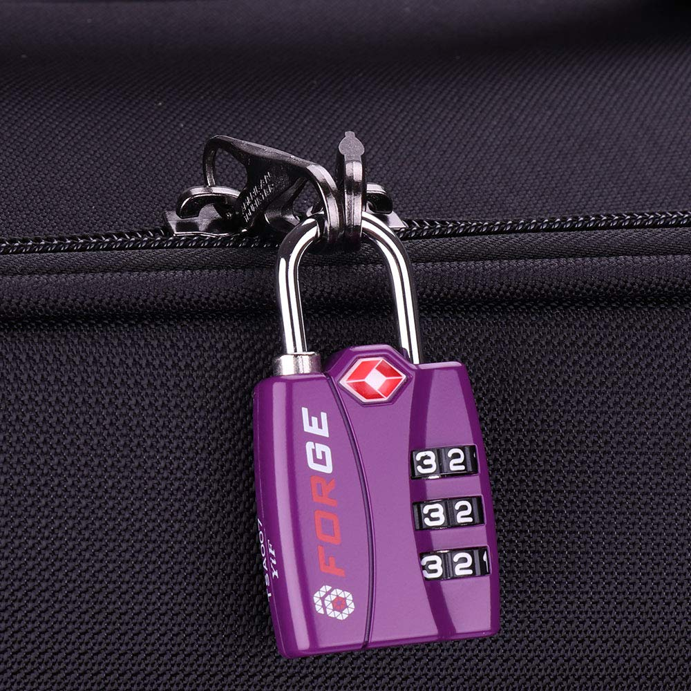 Alloy Body Easy Read Dials Open Alert Indicator Forge TSA Locks 4 Pack Green