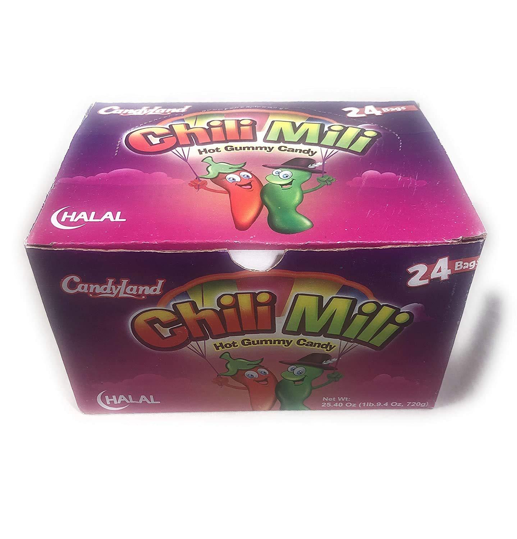Chili Mili (spicy jelly candy- halal) box of 24pkts