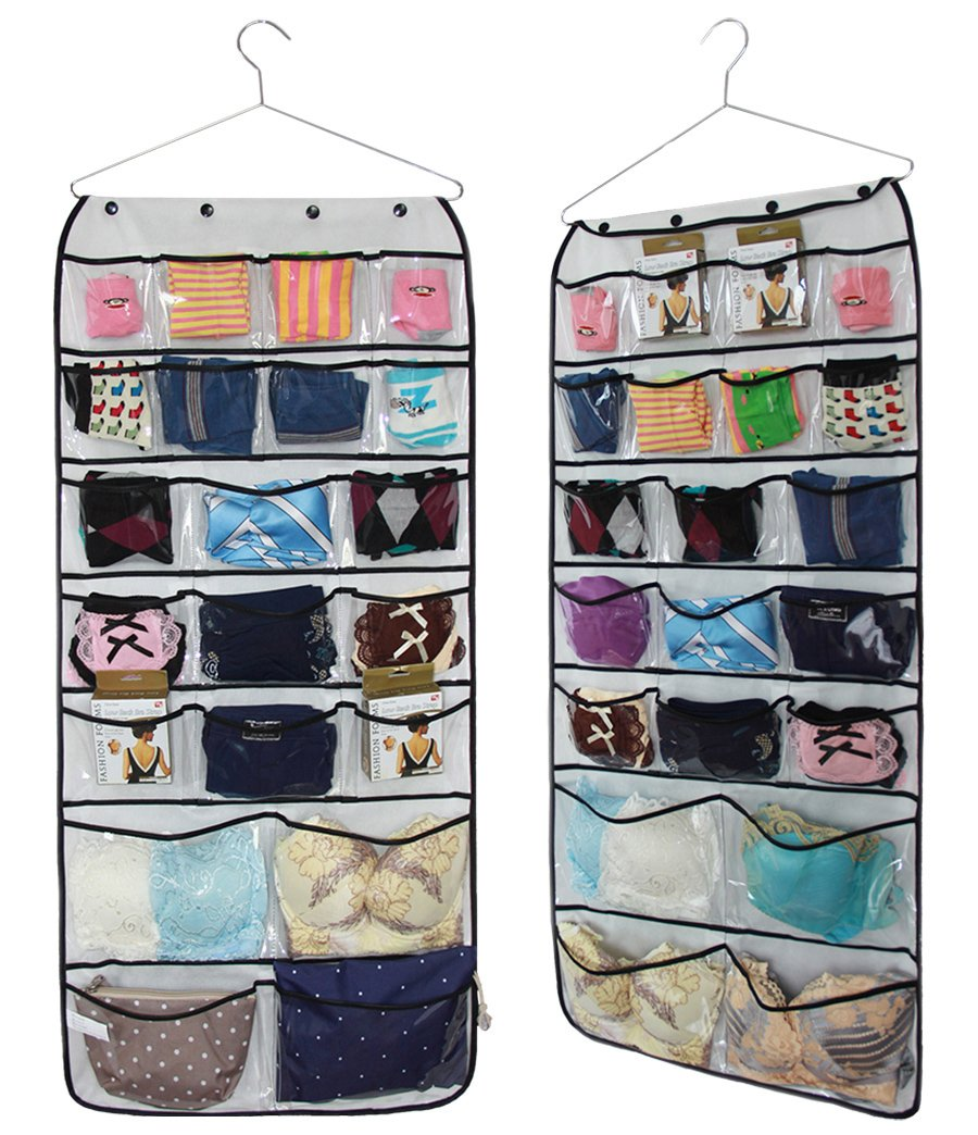 Amazon.com: Misslo Hanging Closet Dual Sided Organizers, 42 Pockets, 38.5  By 17.75 Inch: Home U0026 Kitchen