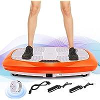 ANCHEER Fitness Plateforme Vibrante et Oscillante JF-B01C, 5 Programmes Automatiques et 3 Zones de Vibration avec Télécommande et 2 Bandes Elastiques d'Entraînements