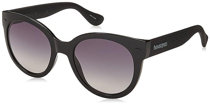 Womens Ngoldnha/M LS Qfu Sunglasses, Black/Grey Grey, 52 Havaianas