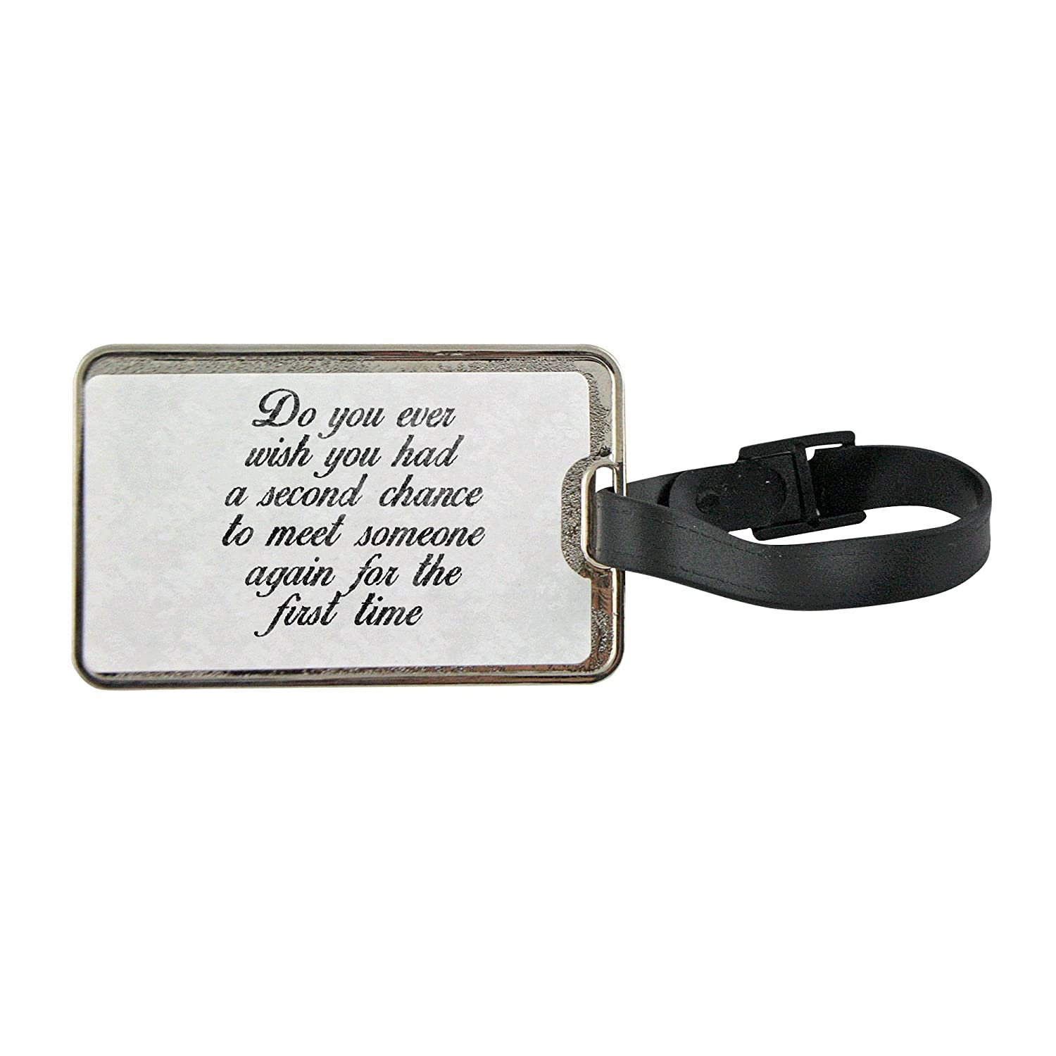 Metal Luggage Tag With Quote About Love And Affection Cheap
