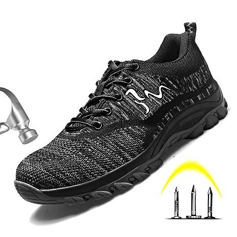 Blwz Zapatos De Seguridad,Zapatos De Seguro Laboral,Transpirables Y Desodorantes Resistentes Al Desgaste