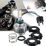 Motorcycle Headlights, AMBOTHER H4 LED Headlight Hi/Lo Beam 360° 3-Side COB Head DRL Fog Replacement Conversion Light Retrofit Kit Headlamp Lamp Bulb 32W 3000LM12V HID White 6000K